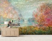 The Boat Studio on the Seine, 1875 (oil on canvas) wall mural living room preview