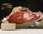 Still Life, the Joint of Meat, 1864 (oil on canvas) wallpaper mural living room preview