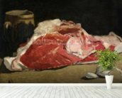 Still Life, the Joint of Meat, 1864 (oil on canvas) wallpaper mural in-room view