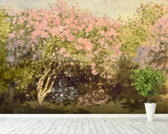 Lilac in the Sun, 1873 (oil on canvas) wall mural room setting