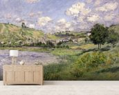 Landscape, Vetheuil, 1879 (oil on canvas) wallpaper mural living room preview
