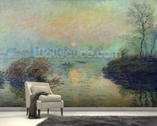 Sun Setting over the Seine at Lavacourt Wallpaper Wall Murals