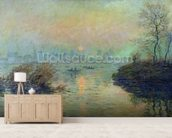 Sun Setting over the Seine at Lavacourt. Winter Effect, 1880 (oil on canvas) mural wallpaper living room preview