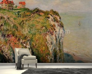 Cliff at Dieppe, 1882 (oil on canvas) wall mural
