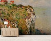 Cliff at Dieppe, 1882 (oil on canvas) wall mural living room preview