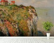 Cliff at Dieppe, 1882 (oil on canvas) wall mural in-room view