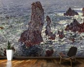The Rocks at Belle-Ile, 1886 (oil on canvas) wallpaper mural kitchen preview