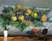 Still Life with Pears and Grapes, 1880 (oil on canvas) wall mural kitchen preview