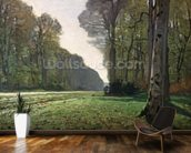The Road to Bas-Breau, Fontainebleau (Le Pave de Chailly), c.1865 (oil on canvas) wallpaper mural kitchen preview