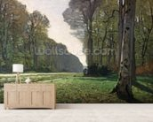 The Road to Bas-Breau, Fontainebleau (Le Pave de Chailly), c.1865 (oil on canvas) wallpaper mural living room preview
