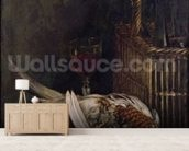 Still Life with a Pheasant, c.1861 (oil on canvas) wall mural living room preview