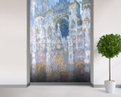 Rouen Cathedral, Blue Harmony, Morning Sunlight, 1894 (oil on canvas) wallpaper mural in-room view
