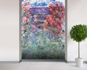 The House at Giverny under the Roses, 1925 (oil on canvas) wallpaper mural in-room view