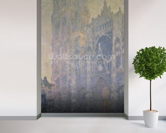 Rouen Cathedral, Harmony in White, Morning Light, 1894 (oil on canvas) wallpaper mural room setting