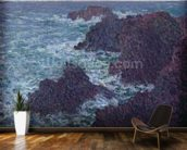 The Rocks at Belle-Ile, the Wild Coast, 1886 (oil on canvas) wall mural kitchen preview