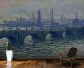 Waterloo Bridge, 1902 (oil on canvas) mural wallpaper kitchen preview