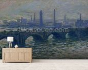 Waterloo Bridge, 1902 (oil on canvas) mural wallpaper living room preview