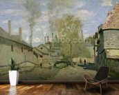 The Stream of Robec at Rouen, 1872 (oil on canvas) mural wallpaper kitchen preview