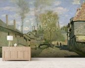 The Stream of Robec at Rouen, 1872 (oil on canvas) mural wallpaper living room preview