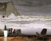 Rough Sea at Etretat, 1868-69 (oil on canvas) wallpaper mural kitchen preview
