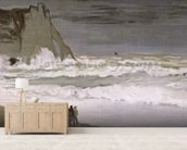 Rough Sea at Etretat, 1868-69 (oil on canvas) wallpaper mural living room preview