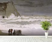 Rough Sea at Etretat, 1868-69 (oil on canvas) wallpaper mural in-room view