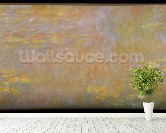 Waterlilies, after 1916 (oil on canvas) mural wallpaper room setting