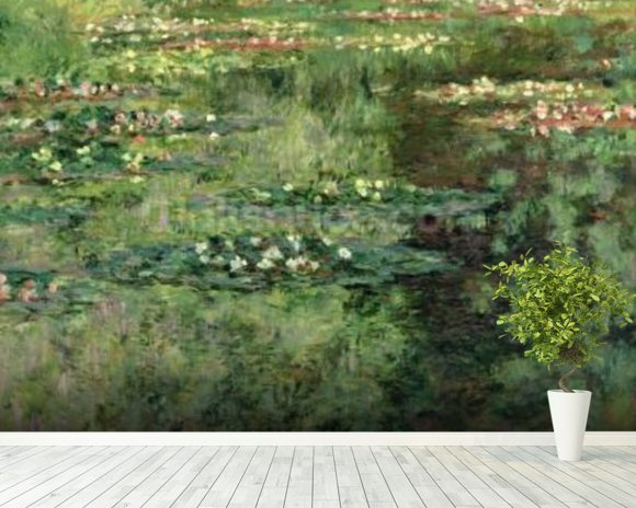 The Waterlily Pond, 1904 (oil on canvas) wall mural room setting