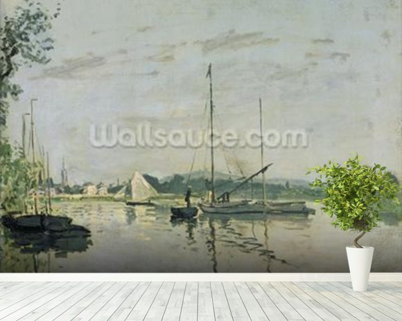 Argenteuil, 1872 (oil on canvas) mural wallpaper room setting