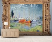 Argenteuil, 1875 (oil on canvas) (also see 19111) wallpaper mural living room preview