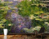 Waterlilies (oil on canvas) wallpaper mural kitchen preview