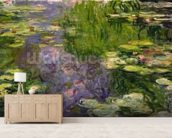 Waterlilies (oil on canvas) wallpaper mural living room preview