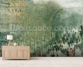 Boulevard des Capucines, 1873-4 (oil on canvas) mural wallpaper living room preview