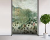 Boulevard des Capucines, 1873-4 (oil on canvas) mural wallpaper in-room view