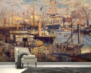 Grand Quai at Havre, 1872 (oil on canvas) wall mural
