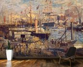 Grand Quai at Havre, 1872 (oil on canvas) wall mural kitchen preview