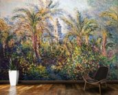 Garden in Bordighera, Impression of Morning, 1884 (oil on canvas) wallpaper mural kitchen preview
