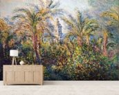 Garden in Bordighera, Impression of Morning, 1884 (oil on canvas) wallpaper mural living room preview