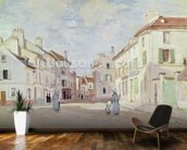 Rue de la Chaussee at Argenteuil (oil on canvas) wall mural kitchen preview