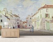 Rue de la Chaussee at Argenteuil (oil on canvas) wall mural living room preview