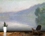 The Seine at Port-Villez, 1894 (oil on canvas) mural wallpaper kitchen preview