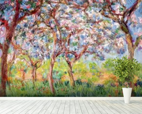 Printemps a Giverny, 1903 (oil on canvas) wall mural room setting