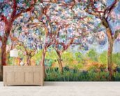 Printemps a Giverny, 1903 (oil on canvas) wall mural living room preview