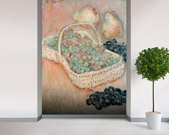 The Basket of Grapes, 1884 (oil on canvas) wall mural room setting