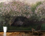 Lilacs, Grey Weather, 1872 (oil on canvas) wallpaper mural kitchen preview