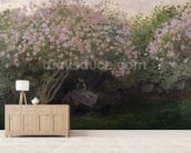 Lilacs, Grey Weather, 1872 (oil on canvas) wallpaper mural living room preview