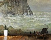 Rough Sea at Etretat, 1883 (oil on canvas) wall mural kitchen preview