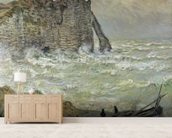 Rough Sea at Etretat, 1883 (oil on canvas) wall mural living room preview