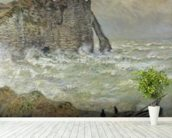 Rough Sea at Etretat, 1883 (oil on canvas) wall mural in-room view