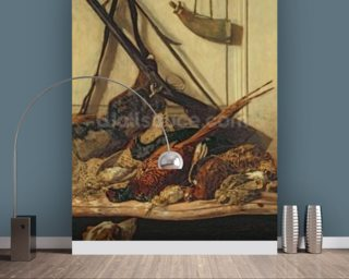 Hunting Trophies, 1862 (oil on canvas) wallpaper mural